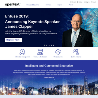 Empowering the Intelligent and Connected Enterprise - OpenText