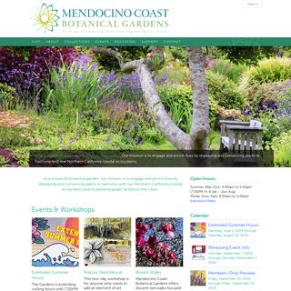 Mendocino Coast Botanical Gardens - MCBG Inc. 2019 - Fort Bragg, California