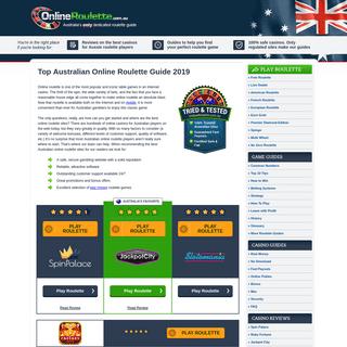 Online Roulette Australia 2019 - #1 Australian Roulette Guide