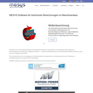 MESYS AG - Software für technische Berechnungen im Maschinenbau