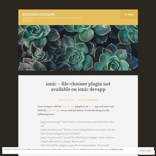 Blogging googling – recopilando notas de las experiencias de un programador queretano