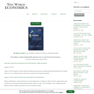 New World Economics – A New World of Economics, Economics for the New World