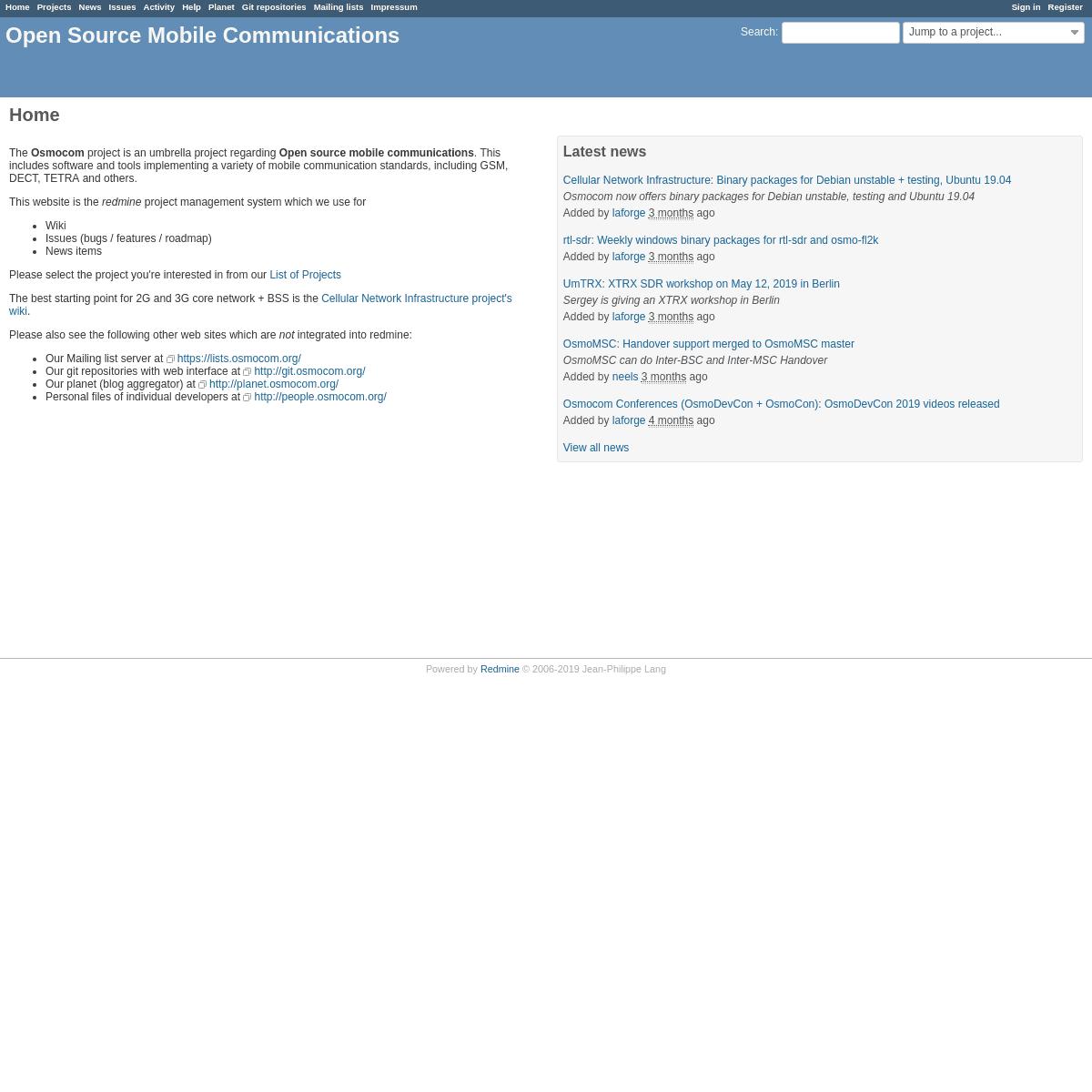 ArchiveBay.com - osmocom.org - Open Source Mobile Communications