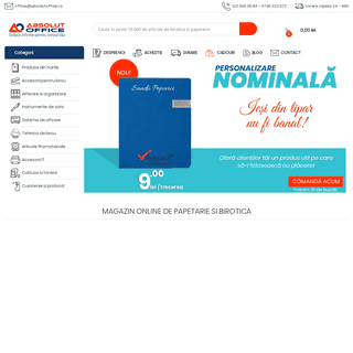 AbsolutOffice- Papetarie » Birotica » Magazin Online Birotica&Papetarie