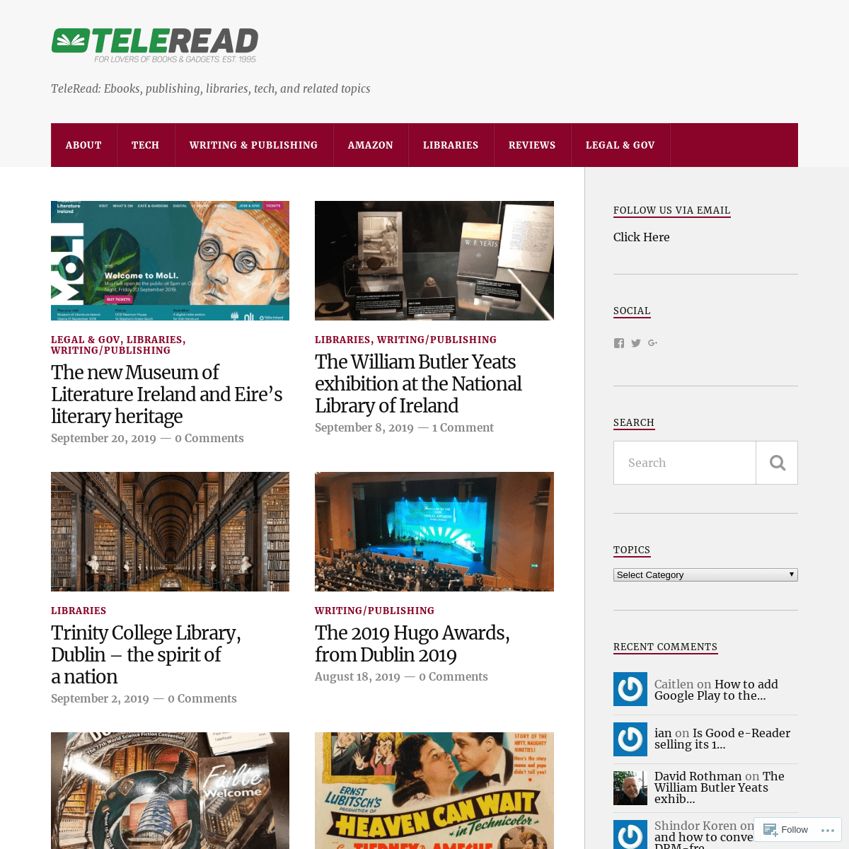 TeleRead- Ebooks, publishing, libraries, tech, and related topics