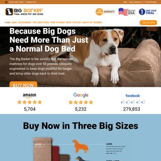 Orthopedic Dog Beds for Large & Extra Large Dogs - Big Barker
