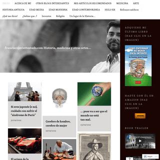 franciscojaviertostado.com Historia, medicina y otras artes…