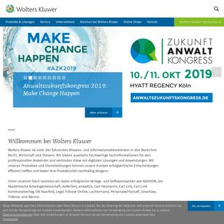 Verlagsinhalte, Software, Portaltechnologie - Wolters Kluwer