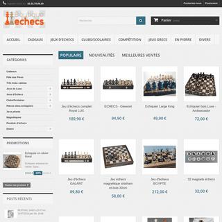 ❶ magasin jeu d'échecs & échiquiers et pièces de toute taille - Boutique Echecs