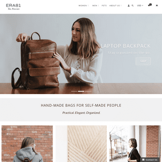 Minimalist leather bags and accessories