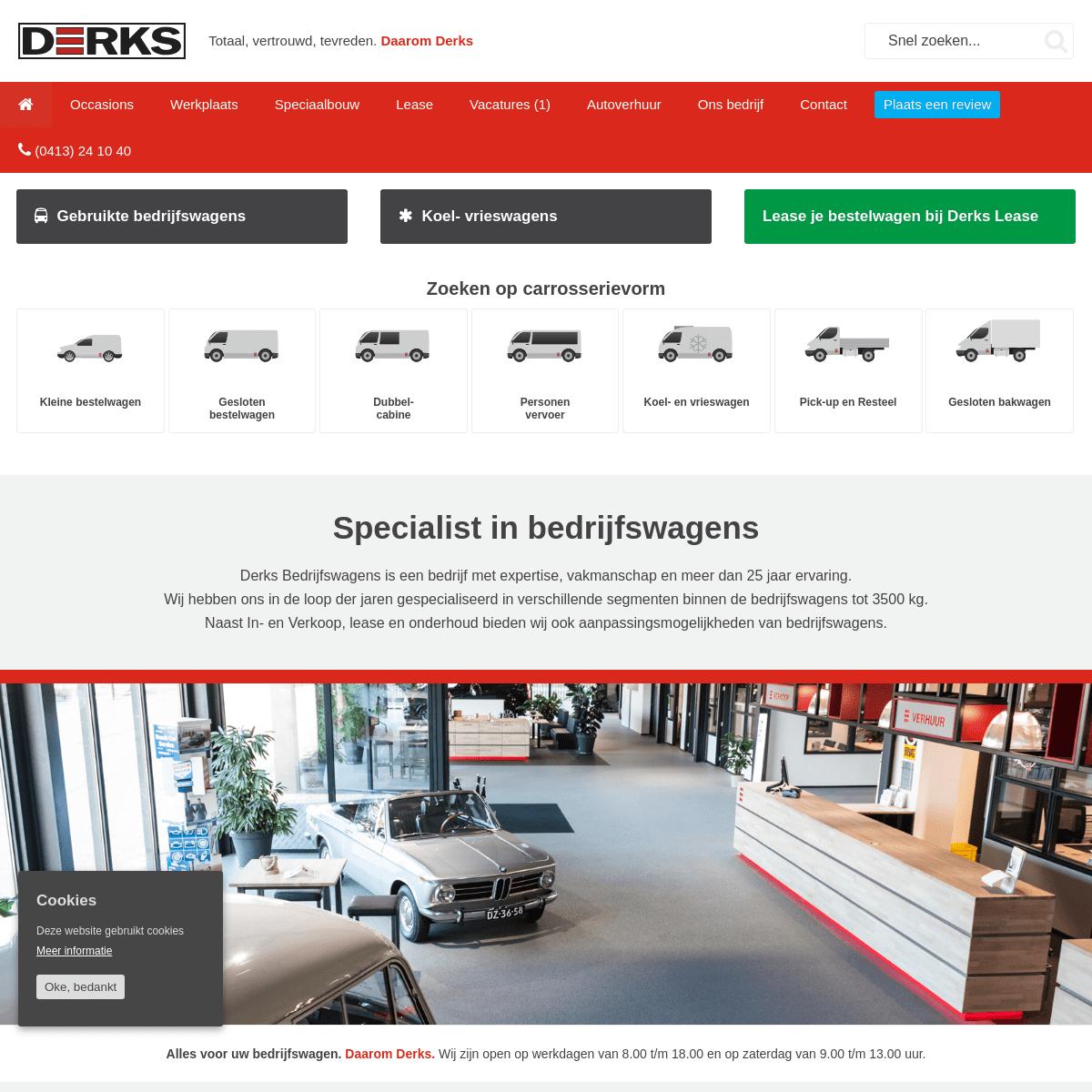 Bedrijfswagen en bestelwagen specialist - Derks Bedrijfswagens Uden