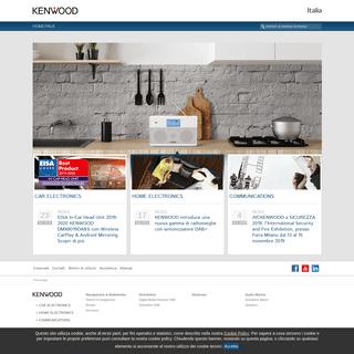 Homepage • KENWOOD Italy