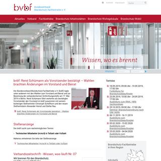ArchiveBay.com - bvbf-brandschutz.de - Verbandszeitschrift - Wissen, was läuft - Bundesverband Brandschutz-Fachbetriebe e. V. (bvbf)