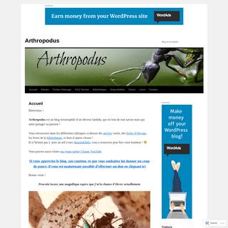 Arthropodus - Blog terrariophile