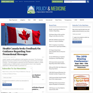 ArchiveBay.com - policymed.com - Policy & Medicine – Legal, Regulatory, and Compliance Issues