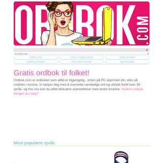 Ordbok.com - Gratisk ordbok til de fleste språk