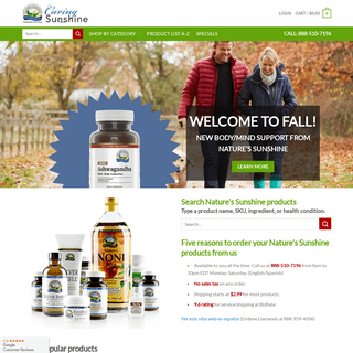 Nature's Sunshine nutritional health products