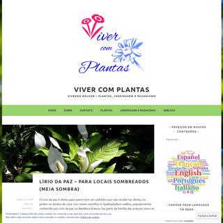 Viver com Plantas – Vivendo melhor – Plantas, Jardinagem e Paisagismo
