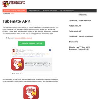 Tubemate 2.4.0 free download - Tubemate Youtube Downloader 2.4.0 - Best Version