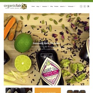 Organic fair trade, dark chocolate bars, soda syrups & spices mixes – organicfair.com