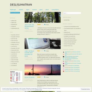 Deslisumatran - KECIL NAMUN BERARTI
