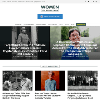 Women You Should Know® - An Editorial Site For & About Dynamic Women