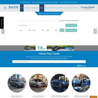 Honda & Used Car Dealer in Rochester, NY - Ralph Honda