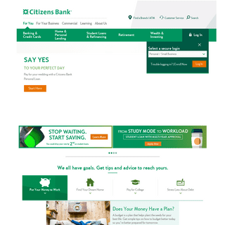 Citizens Bank - Personal & Business Banking, Student Loans, & Retirement