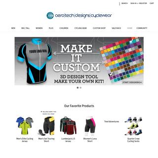 Cycling Apparel, Bike Shorts, Bike Jerseys by Aero Tech Designs
