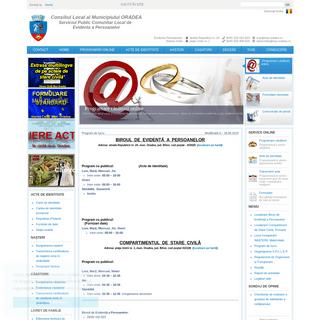 ArchiveBay.com - evp-oradea.ro - Serviciul Public Comunitar Local de Evidenta Persoanelor ORADEA