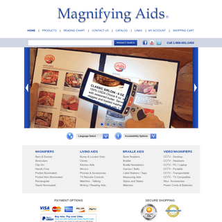 ArchiveBay.com - magnifyingaids.com - Magnifying Aids, Magnifiers, Magnifying Glasses, and Low Vision Aids to help people with Macular Degeneration
