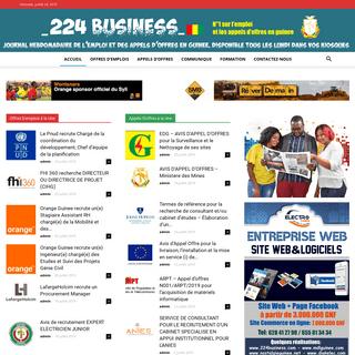 Accueil - 224business - Journal Hebdo et electronique de l'emploi et des appels d'offres en Guinee