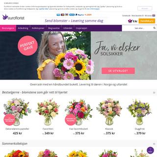 Send blomster med Euroflorist - levering i dag