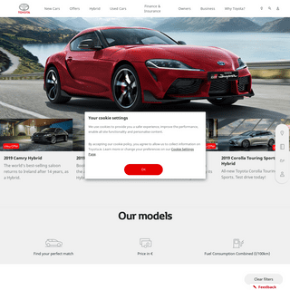 New and Used Cars, Car Finance & Service - Toyota Ireland