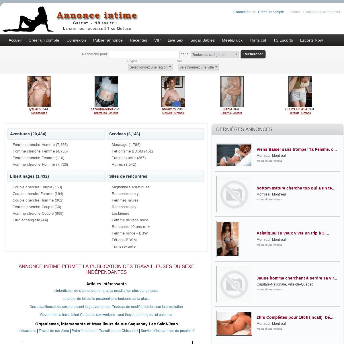 Centre du quebec massage erotique Salon de