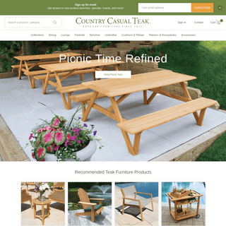 Teak Outdoor Furniture Since 1977 - Country Casual Teak