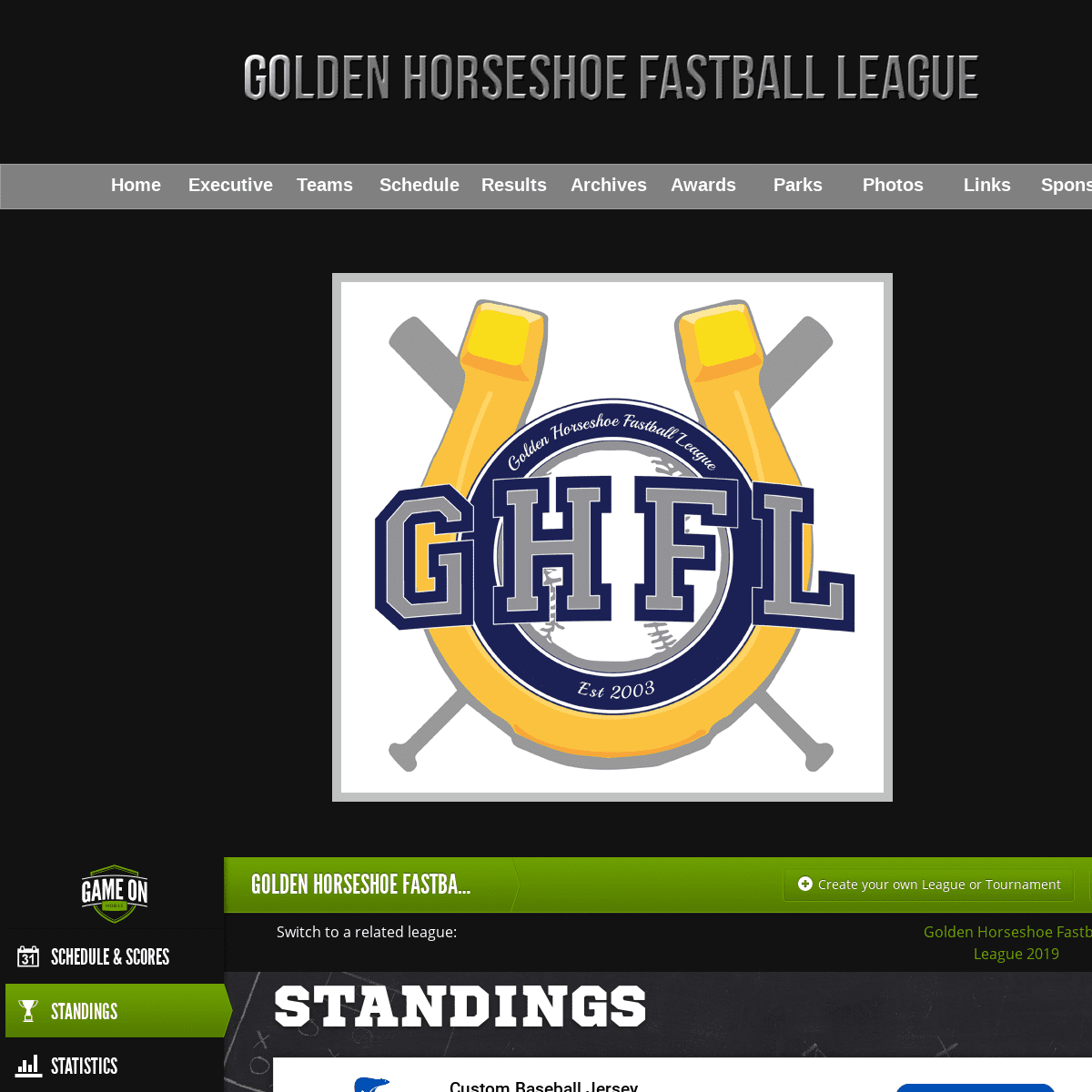 ArchiveBay.com - goldenhorseshoefastball.ca - GHFL - Home Page