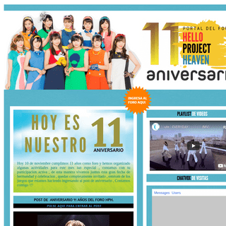 ;)Bienvenidos al Portal del Foro Helloprojectheaven - 11 años
