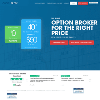 ChoiceTrade - Best Online Stock Trading Brokers & Flat Fee Options
