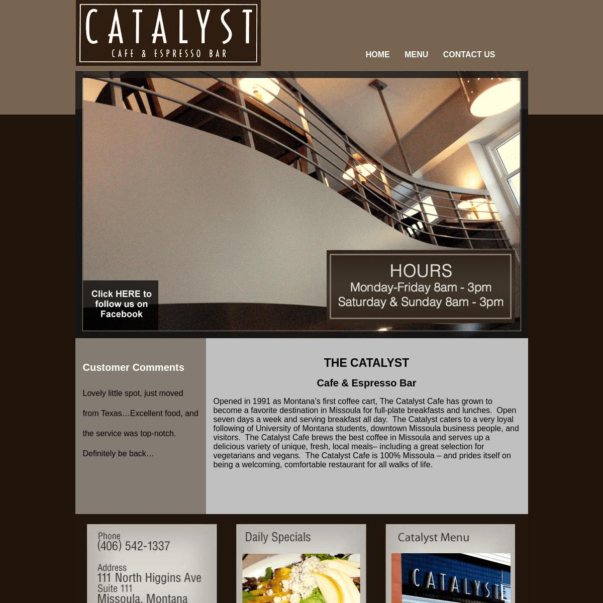 Missoula Cafe - Missoula Restaurant - Coffee Shop - Great Food - Downtown MissoulaCatalyst Cafe - Cafe & Espresso Bar