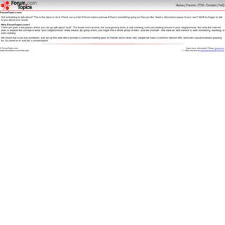 ArchiveBay.com - forumtopics.com - ForumTopics.Com