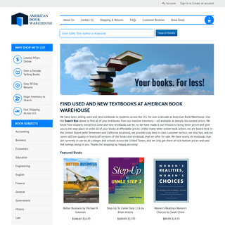 Find new & used textbooks at cheap prices - American Book Warehouse