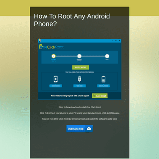 How To Root Any Android Phone-
