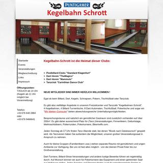 Kegelbahn Schrott - Kegelbahn-Schrott ist die Heimat dieser Clubs-