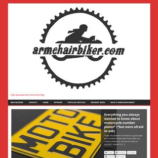 Armchair Biker Motorcycle Blog