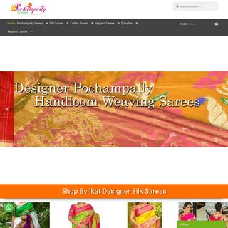 Pochampally Ikkat Sarees,Soft Silk Sarees Online Shopping From Weaver