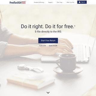 FreeTaxUSA® FREE Tax Filing, Online Return Preparation, E-file Income Taxes