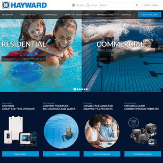 Welcome to Hayward Residential and Commercial Pool Products