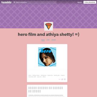 hero film and athiya shetty! =)