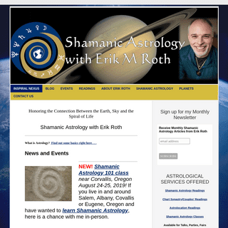 InSpiral Nexus - ASTROLOGICAL SERVICES based on the teachings of the Shamanic Astrology Mystery School
